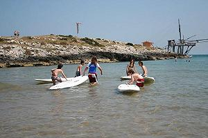 windsurfen gargano surf kids